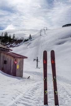Frühjahrstour im geschlossenen Skigebiet Loser